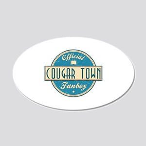 Official Cougar Town Fanboy 22x14 Oval Wall Peel