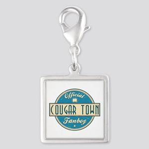 Official Cougar Town Fanboy Silver Square Charm