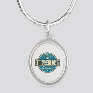 Official Cougar Town Fanboy Silver Oval Necklace