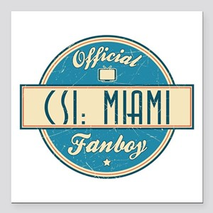 "Official CSI: Miami Fanboy Square Car Magnet 3"" x"