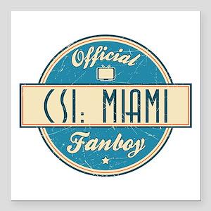 "Official CSI: Miami Fanboy Square Car Magnet 3"" x"