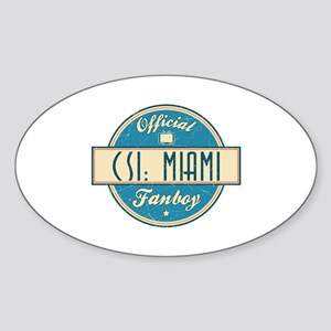 Official CSI: Miami Fanboy Oval Sticker