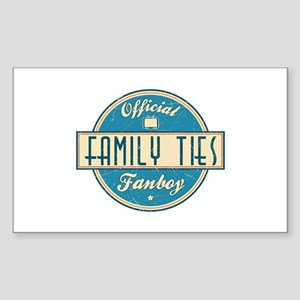Official Family Ties Fanboy Rectangle Sticker
