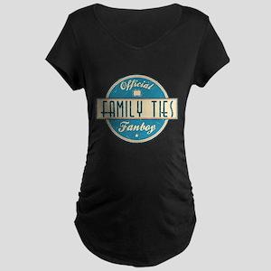 Official Family Ties Fanboy Dark Maternity T-Shirt