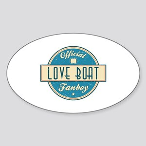 Official Love Boat Fanboy Oval Sticker