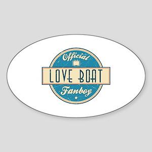 Official Love Boat Fanboy Oval Sticker
