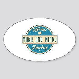 Official Mork and Mindy Fanboy Oval Sticker