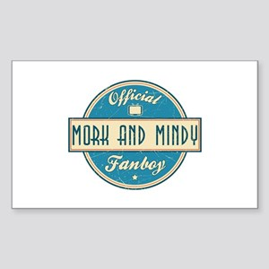 Official Mork and Mindy Fanboy Rectangle Sticker