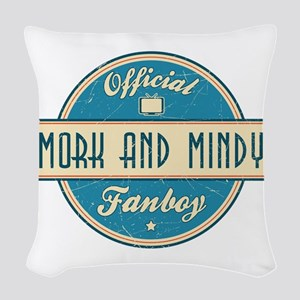 Official Mork and Mindy Fanboy Woven Throw Pillow