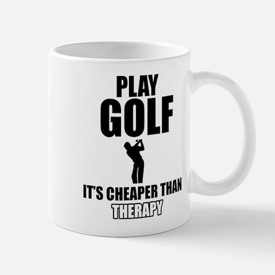 golf is my therapy Mug