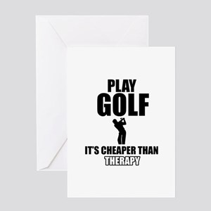 golf is my therapy Greeting Card