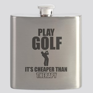 golf is my therapy Flask