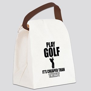 golf is my therapy Canvas Lunch Bag