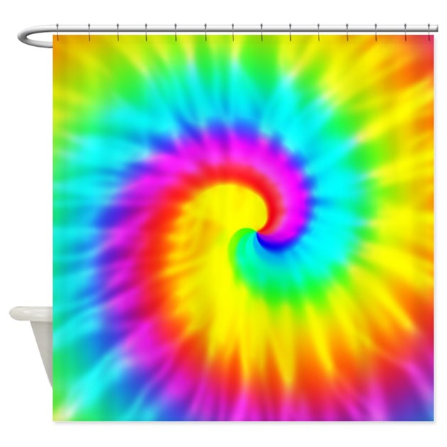 Tie Dye Effect Shower Curtain by MoonlakeDesigns