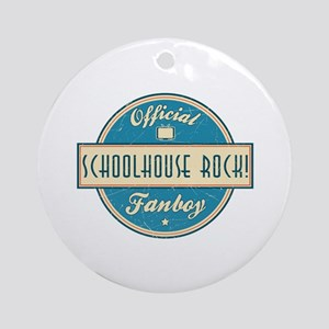 Official Schoolhouse Rock! Fanboy Round Ornament