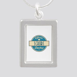 Official Scrubs Fanboy Silver Portrait Necklace