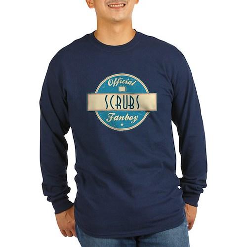 Official Scrubs Fanboy Long Sleeve Dark T-Shirt