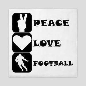Peace Love Football (Running Back) Queen Duvet