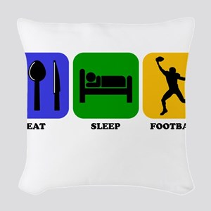 Eat Sleep Football (Wide Receiver) Woven Throw Pil