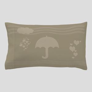 Cute Beige Umbrella Pillow Case