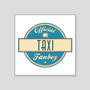 """Official Taxi Fanboy Square Sticker 3"""" x 3"""""""