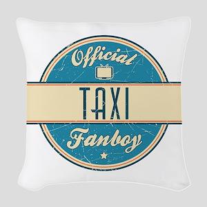 Official Taxi Fanboy Woven Throw Pillow