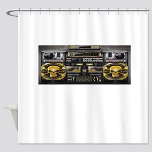 BOOM BOX Shower Curtain