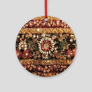 Beaded Indian Saree Photo Ornament (Round)