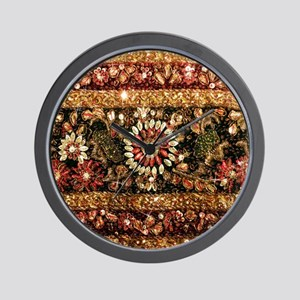 Beaded Indian Saree Photo Wall Clock