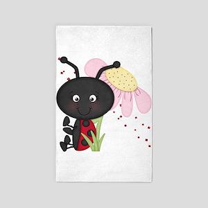 Cute little Ladybug 3'x5' Area Rug