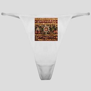 Beaded Indian Saree Photo Classic Thong
