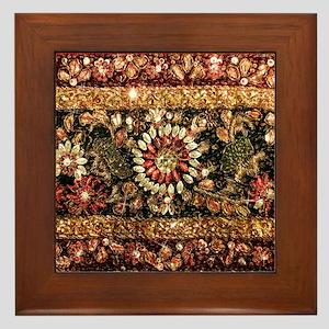 Beaded Indian Saree Photo Framed Tile