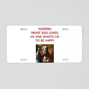 yoopers Aluminum License Plate