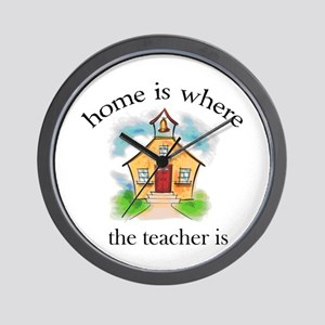 Home is where the teacher is Wall Clock