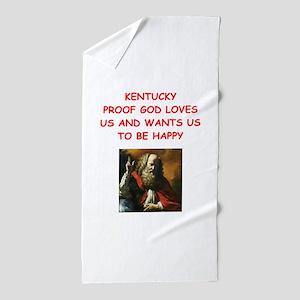 kentucky Beach Towel