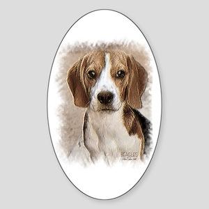 Hound Beagle Oval Sticker