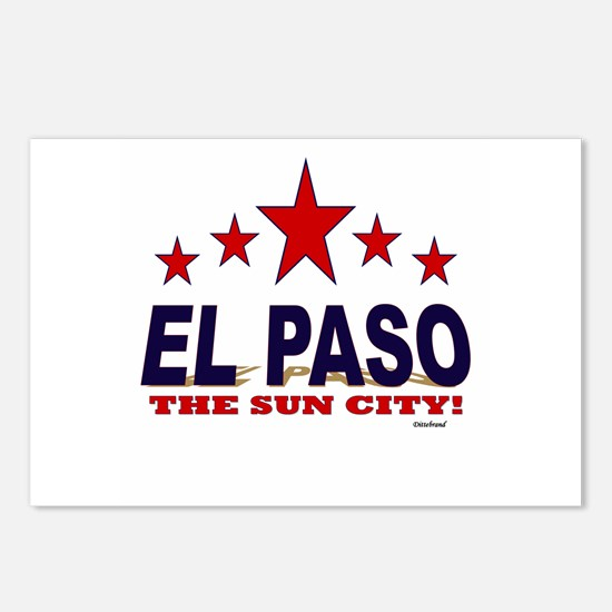 El Paso The Sun City Postcards (Package of 8)