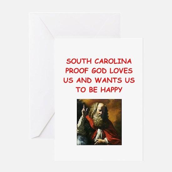 south carolina Greeting Cards