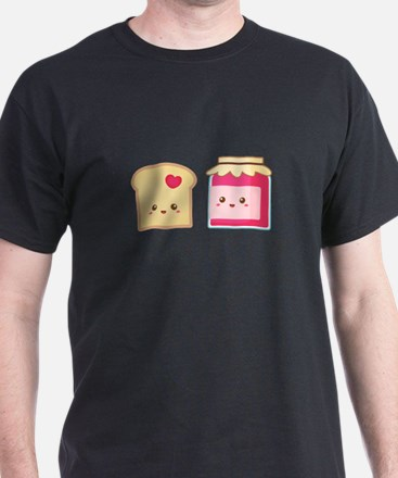 Cute Toast and Strawberry Jam, Spread Love T-Shirt