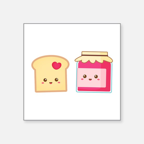 Cute Toast and Strawberry Jam, Spread Love Sticker
