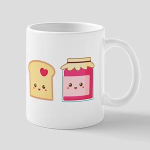 Cute Toast and Strawberry Jam, Spread Love Mugs