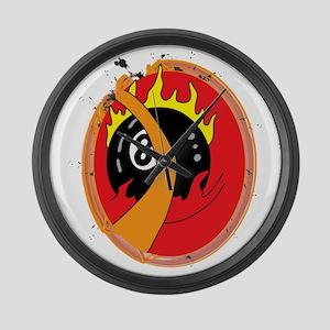 Flaming 8 Large Wall Clock