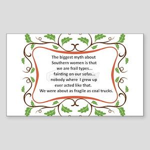 Fragile Southern Women Sticker (Rectangle)