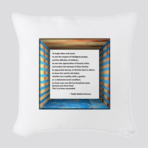The Nature of Success Woven Throw Pillow