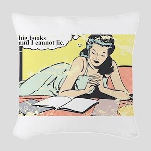 I use big books Woven Throw Pillow