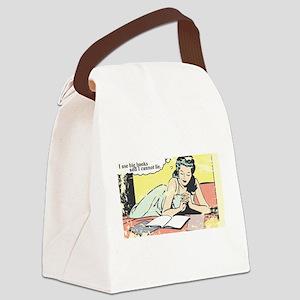 I use big books Canvas Lunch Bag