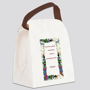 garden and a library Canvas Lunch Bag