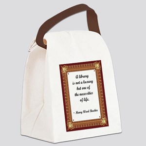 library not a luxury Canvas Lunch Bag