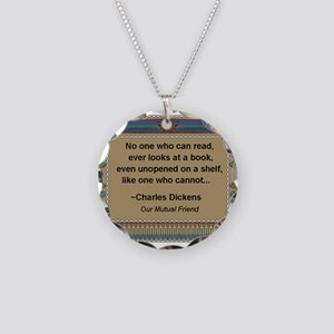 who can read a book Necklace Circle Charm