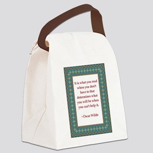 2-What you read Canvas Lunch Bag